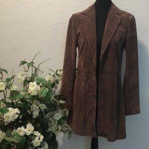 Wilson's Leather Suede Long  Blazer Size Medium